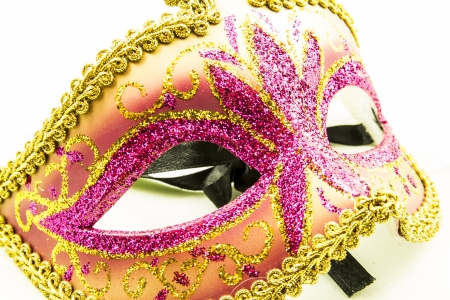 Venetian carnival mask on white background photo