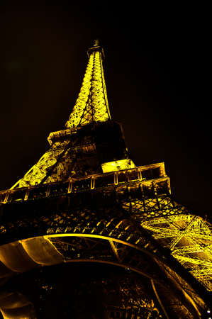 traditionally french: Paris paris - Eiffel tower at night