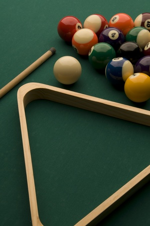 Picture of billiard game pieces.  Stock Photo
