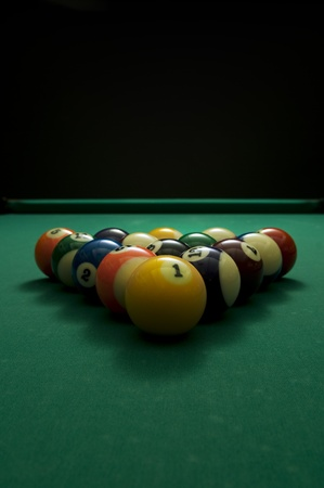 Picture of billiard balls with copy space.
