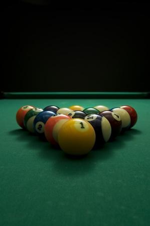 billiard balls: Picture of billiard balls with copy space.