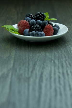 Picture of fruit on white plate