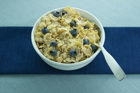 Picture of cereal bowl with blueberries.