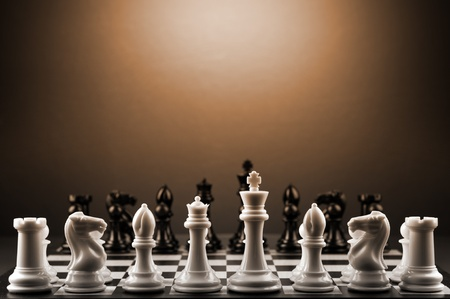 chess board: Picture of a chess game.