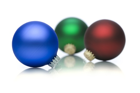 Picture of different christmas decorations balls Stock Photo