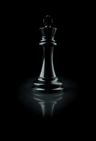Picture of a black chess king. Stock Photo