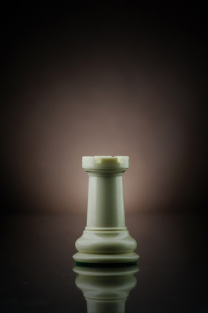 Picture of rook from game of chess. Stock Photo
