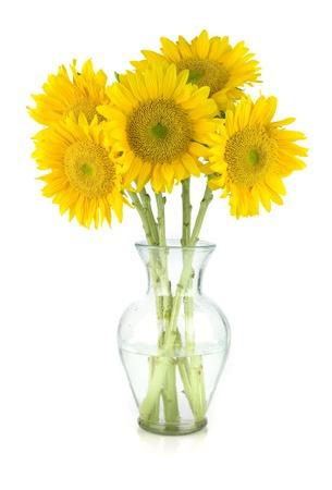 arreglo floral: Imagen de un hermoso ramo de girasol Foto de archivo