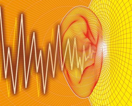 Ear sound waves Stock Photo - 7754171