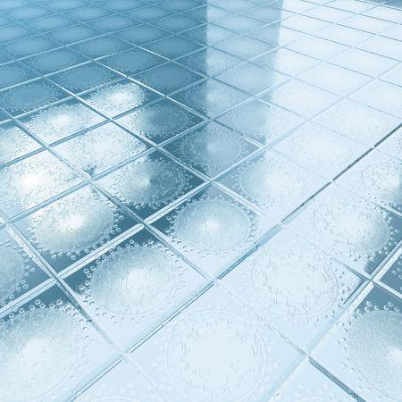 floor blue tiles  Stock Photo - 8105676