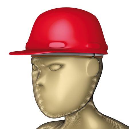 casco rojo: casco de cabeza roja