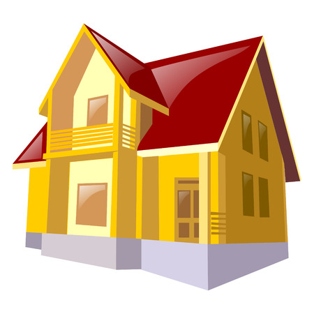 residential homes: Cottage House Icon Vector illustration on a white background