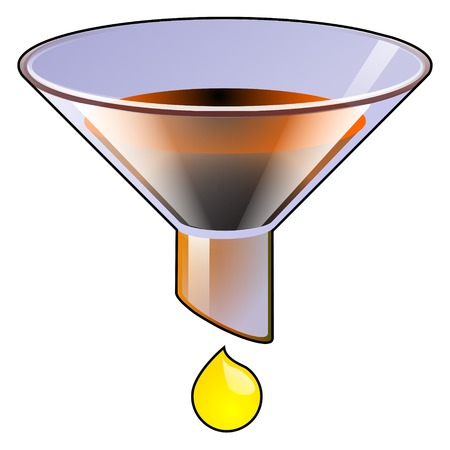 filtration: Filtrar la ilustraci�n del vector del icono sobre un fondo blanco