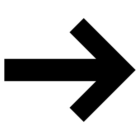 redirect: Arrow Right vector icon. Style is flat icon symbol, black color, white background.