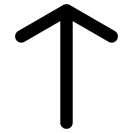 move ahead: Arrow Up vector icon. Style is flat icon symbol, black color, white background.