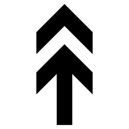 矢印をベクトルのアイコン。スタイルは、フラット アイコン シンボル、ブラック カラー、ホワイト バック グラウンドです。