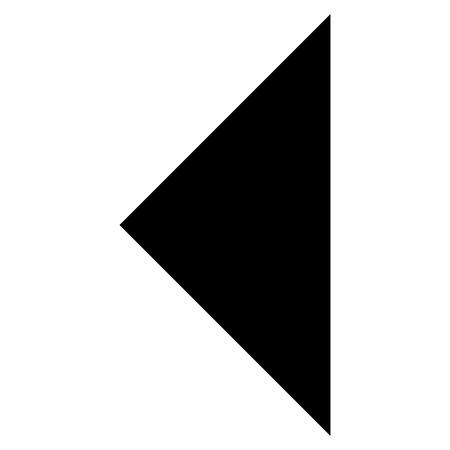 arrowhead: Arrowhead Left vector icon. Style is flat icon symbol, black color, white background. Illustration