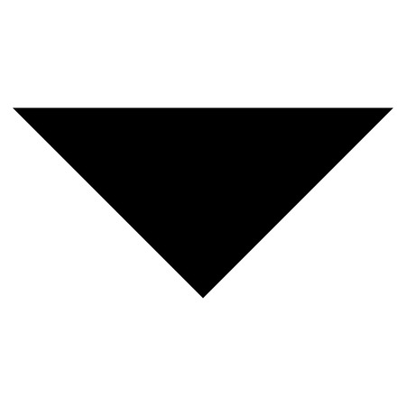 arrowhead: Arrowhead Down vector icon. Style is flat icon symbol, black color, white background.