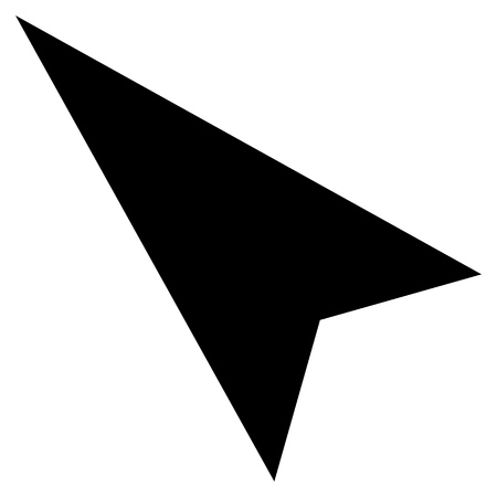 arrowhead: Arrowhead Left-Up vector icon. Style is flat icon symbol, black color, white background.
