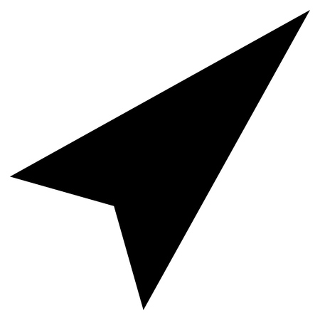 arrowhead: Arrowhead Right-Up vector icon. Style is flat icon symbol, black color, white background.