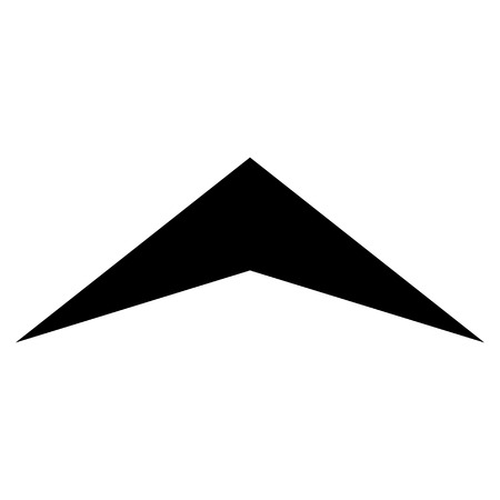 arrowhead: Arrowhead Up vector icon. Style is flat icon symbol, black color, white background.