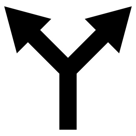 bifurcation: Bifurcation Arrow Up vector icon. Style is flat icon symbol, black color, white background.