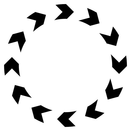 circling: Circulation vector icon. Style is flat icon symbol, black color, white background. Illustration
