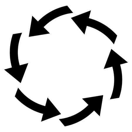 circulation: Circulation vector icon. Style is flat icon symbol, black color, white background. Illustration