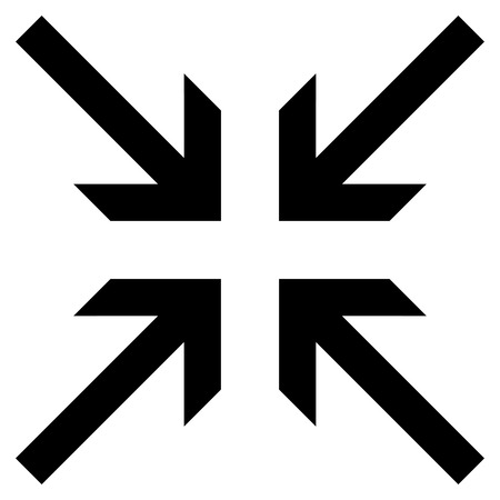 collide: Collide Arrows vector icon. Style is flat icon symbol, black color, white background.