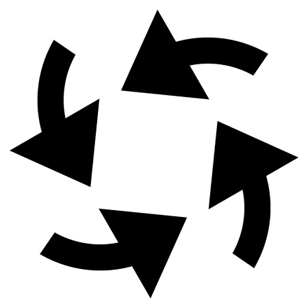 cyclone: Cyclone Arrows vector icon. Style is flat icon symbol, black color, white background. Illustration