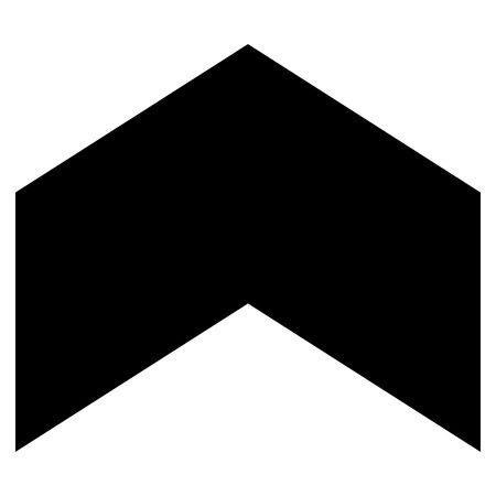 penetrating: Direction Up vector icon. Style is flat icon symbol, black color, white background.