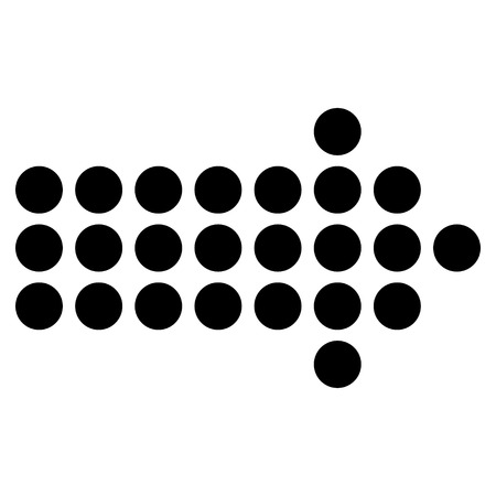 Dotted Arrow Right vector icon. Style is flat icon symbol, black color, white background.