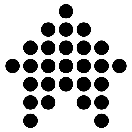 penetrating: Dotted Arrow Up vector icon. Style is flat icon symbol, black color, white background.