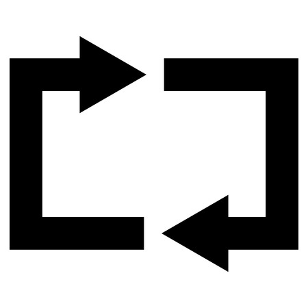 revolve: Exchange Arrows vector icon. Style is flat icon symbol, black color, white background.