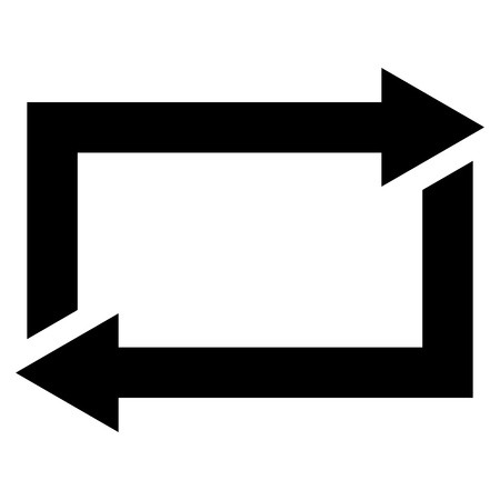 restoring: Exchange Arrows vector icon. Style is flat icon symbol, black color, white background.