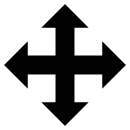 re: Expand Arrows vector icon. Style is flat icon symbol, black color, white background.