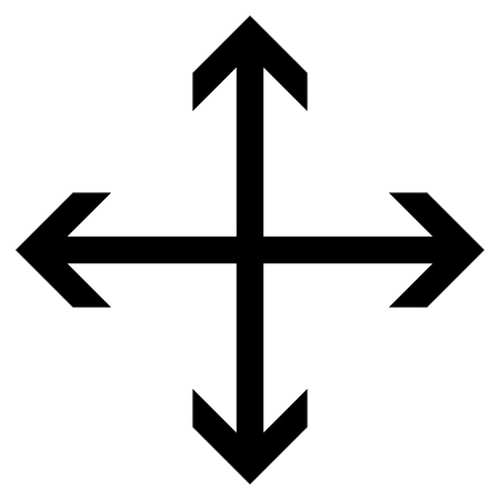 re design: Expand Arrows vector icon. Style is flat icon symbol, black color, white background.