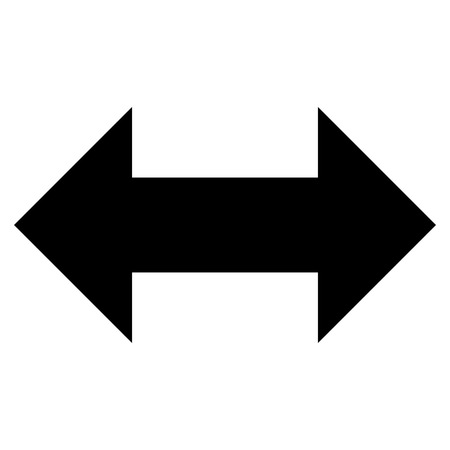 inverse: Horizontal Exchange Arrows vector icon. Style is flat icon symbol, black color, white background.