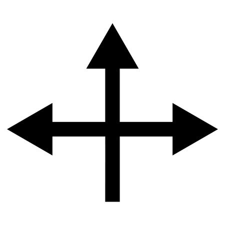 directions icon: Intersection Directions vector icon. Style is flat icon symbol, black color, white background. Illustration