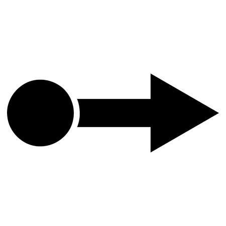 proceed: Pull Right vector icon. Style is flat icon symbol, black color, white background.
