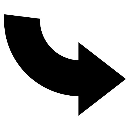 rotate: Rotate Ccw vector icon. Style is flat icon symbol, black color, white background. Illustration