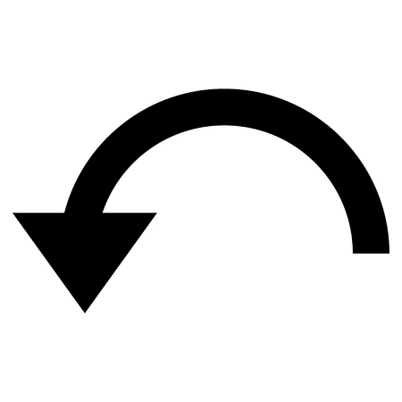 Rotate Ccw vector icon. Style is flat icon symbol, black color, white background.