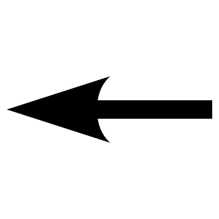 backwards: Sharp Arrow Left vector icon. Style is flat icon symbol, black color, white background.