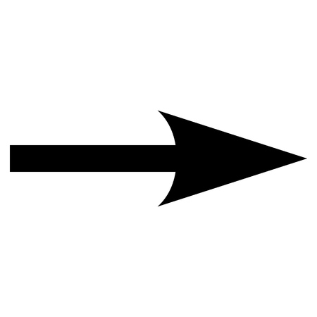 sharp: Sharp Arrow Right vector icon. Style is flat icon symbol, black color, white background.