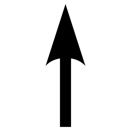 sharp: Sharp Arrow Up vector icon. Style is flat icon symbol, black color, white background.