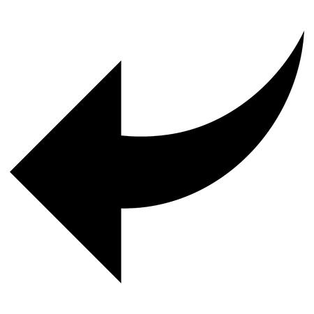 undo: Undo vector icon. Style is flat icon symbol, black color, white background.