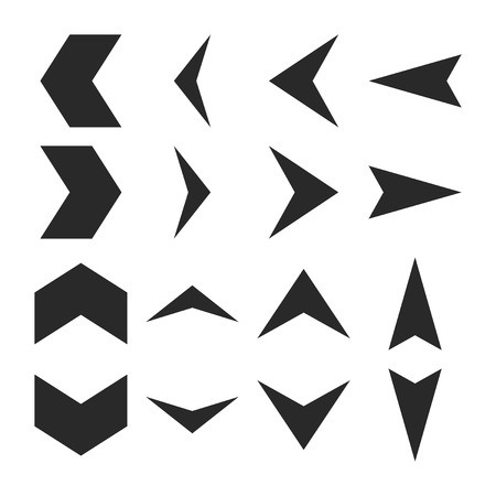 redirect: Arrowheads vector icon set. Collection style is gray flat symbols on a white background.