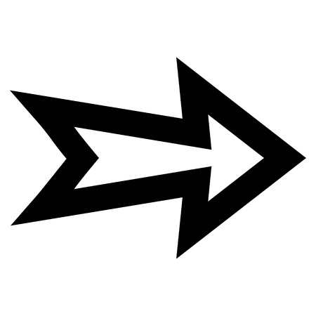 redirect: Arrow Right vector icon. Style is outline icon symbol, black color, white background.