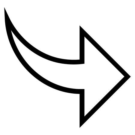 redo: Redo vector icon. Style is stroke icon symbol, black color, white background.