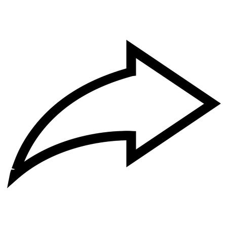 redo: Redo vector icon. Style is contour icon symbol, black color, white background.